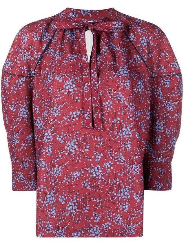 See by Chloé floral-print blouse - Red