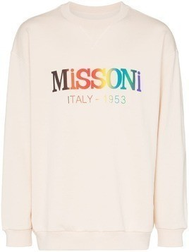 Missoni logo print cotton sweatshirt - White