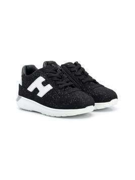 Hogan Kids J371 low-top sneakers - Black