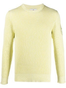 Stone Island ribbed-knit jumper - Yellow