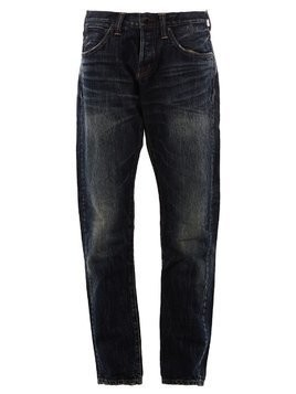 Mastercraft Union bleached straight jeans - Blue