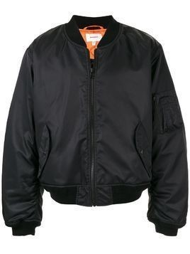 Makavelic zipped bomber jacket - Black