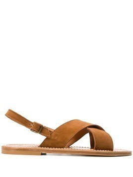 K. Jacques cross strap sandals - Brown