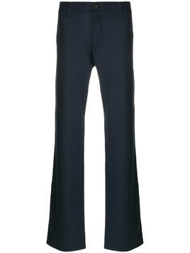 Armani Jeans straight tailored trousers - Blue