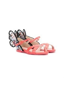 Sophia Webster Mini Rainbow Butterfly sandals - PINK