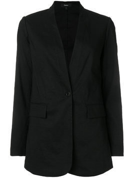 Theory deep v-neck blazer - Black