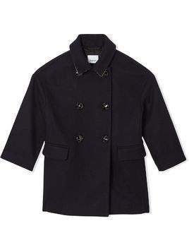 Burberry Kids tailored peacoat - Blue