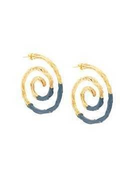 Lizzie Fortunato Jewels spiral contrast earrings - Blue