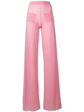 Courrèges sheer wide leg trousers - Pink