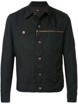 Kolor mismatched pocket denim jacket - Black