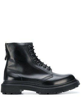Adieu Paris x Études lace-up boots - Black