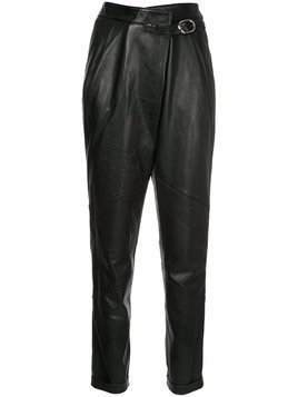 Michel Klein leather trousers - Black
