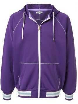 A(Lefrude)E embroidered detail hoodie - PURPLE