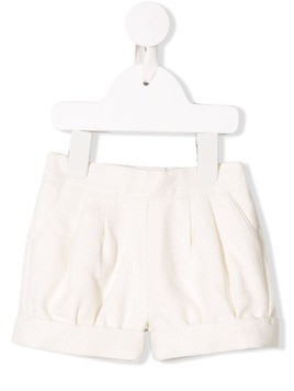 Chloé Kids textured shorts - White