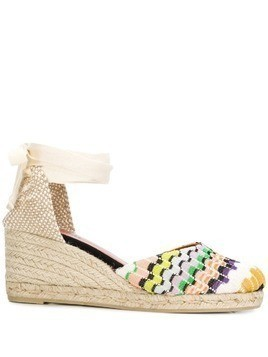 Castañer X Missoni striped midi espadrille wedges - Neutrals