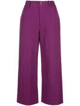 Apiece Apart high-waist tapered trousers - PURPLE