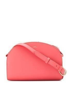 A.P.C. half moon crossbody bag - PINK