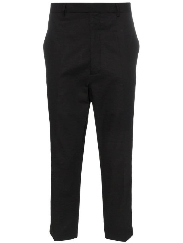 Rick Owens Rip Stop cropped trousers - Black