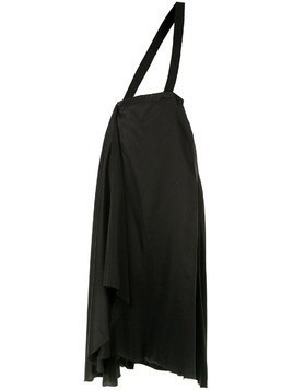 Aganovich brace detail draped skirt - Black