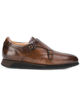 Santoni monk shoes - Brown
