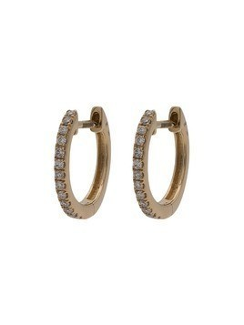 Jacquie Aiche mini diamond pave hoop earrings - Gold