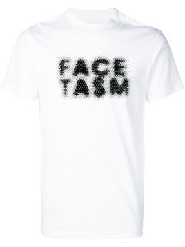 Facetasm faded logo print T-shirt - White