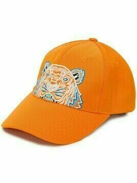 Kenzo tiger-embroidered baseball cap - ORANGE
