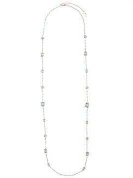 Marchesa Notte long beaded necklace - Blue