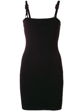 Alyx buckled strap fitted dress - Black