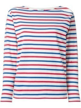 Saint Laurent distressed breton sweatshirt - Multicolour