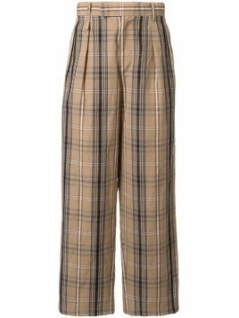 A(Lefrude)E plaid trousers - Brown