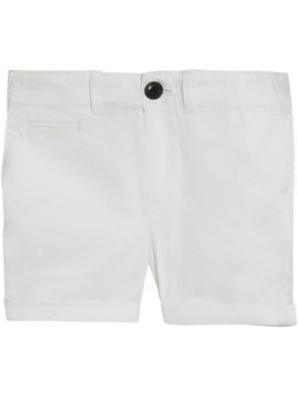 Burberry Kids Cotton Twill Chino Shorts - White