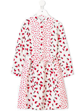 Stella Mccartney Kids Ladybug print dress - White