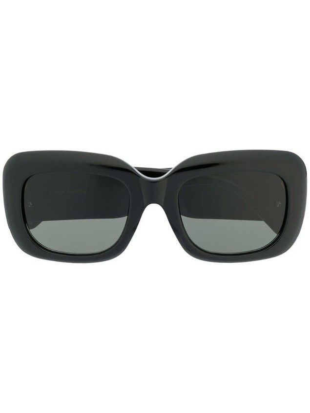 Linda Farrow oversized frame sunglasses - Black