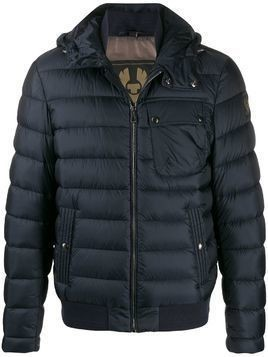 Belstaff hooded padded jacket - Blue