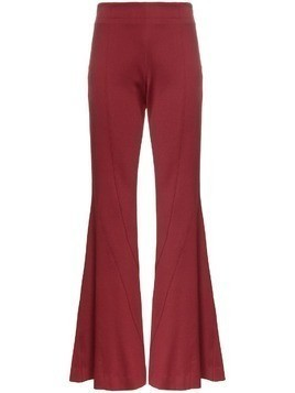 Mugler Flared stretch wool trousers