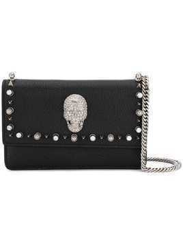 Philipp Plein crystal skull crossbody bag - Black