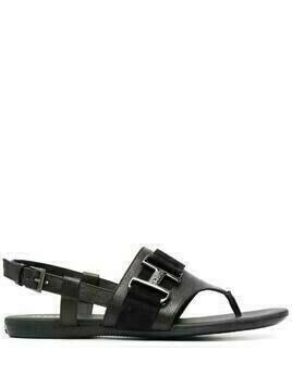 Hogan Valencia flat sandals - Black