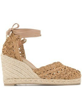 Castañer woven Carina wedges - Brown