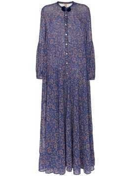 Figue Xiomara chiffon maxi dress - Blue