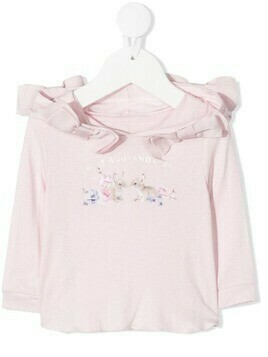 Lapin House logo bow-detail top - PINK