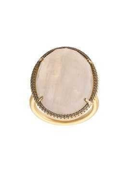 Irene Neuwirth 18kt yellow gold moonstone cocktail ring - PINK