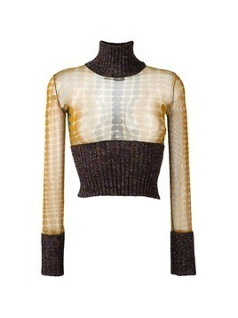 Jean Paul Gaultier Vintage cropped two-tone jumper - Brown