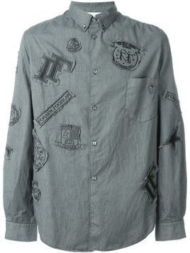 Golden Goose Deluxe Brand - patched shirt - Herren - Cotton/Polyester/Acetate/Cupro - S - Green