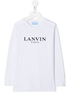 Lanvin Enfant logo print top - White