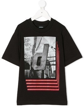 Diesel Kids photographic print T-shirt - Black