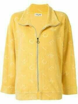 Céline Pre-Owned pre-owned logo pattern zip-up jacket - Yellow