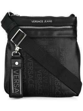 Versace Jeans logo zipped shoulder bag - Black