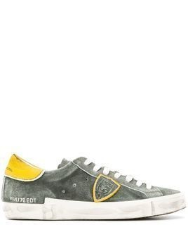 Philippe Model Paris distressed low-to trainers - Green