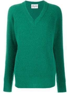 Alyki V-neck jumper - Green